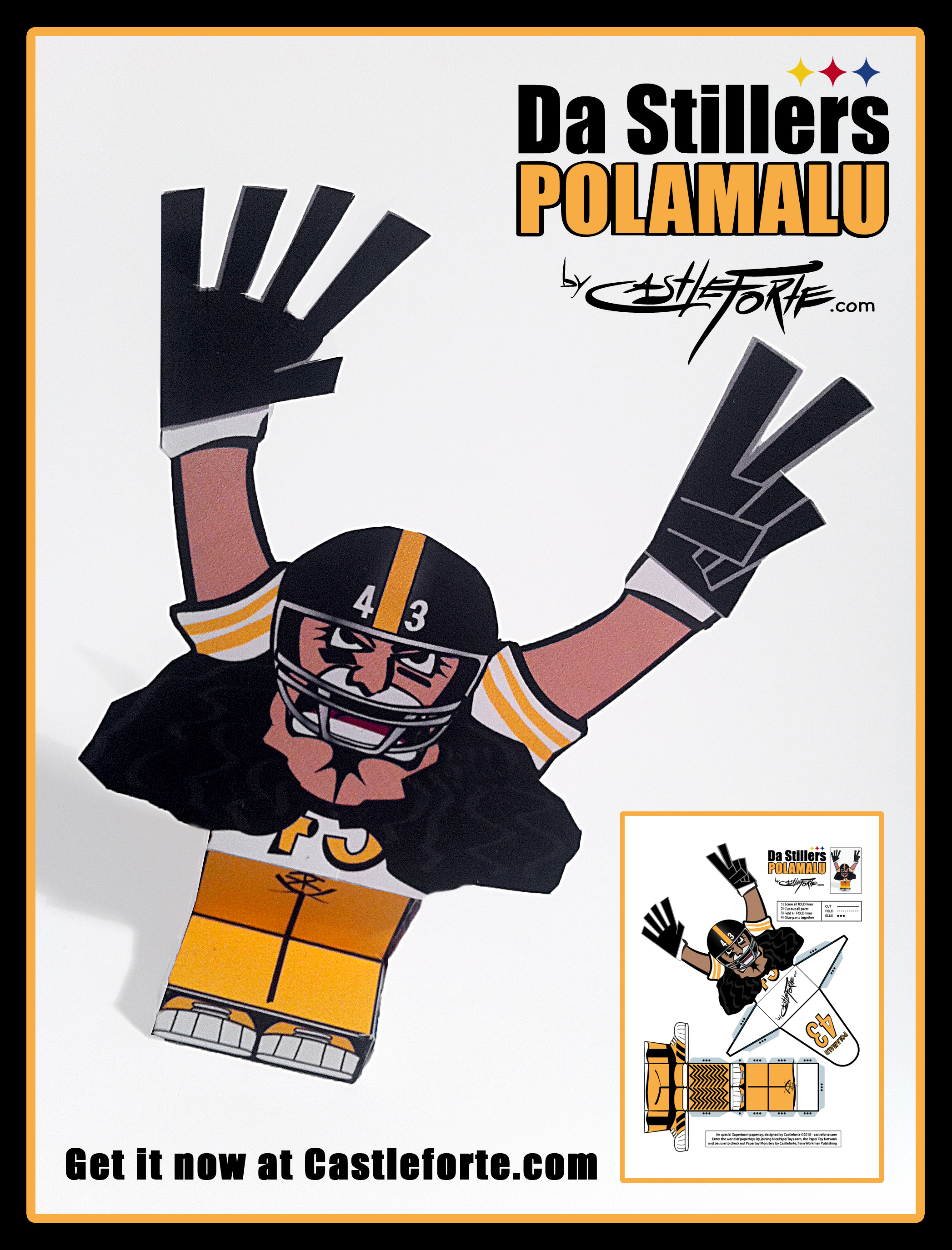 SuperBowl Ghouls Papertoys Download Template Now