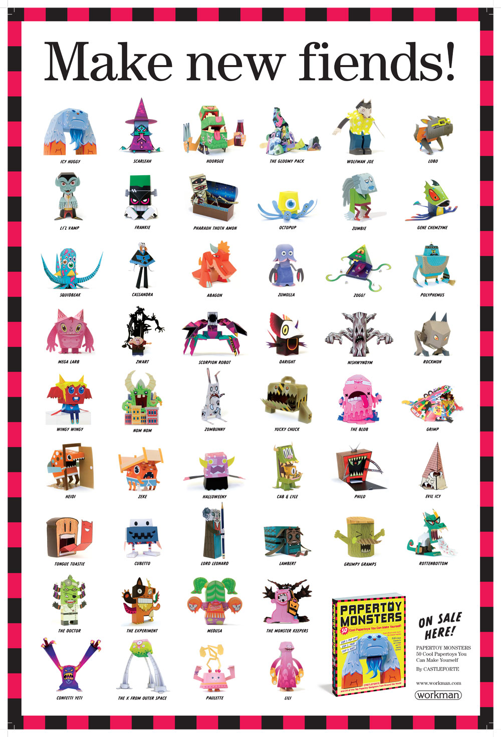 50 Papertoy Monsters